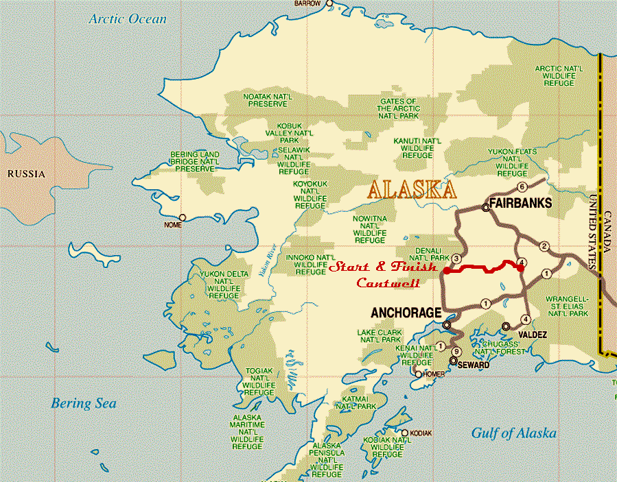 MAP OF ALASKA Denali Highway Alaska route 8 Camping Pinterest