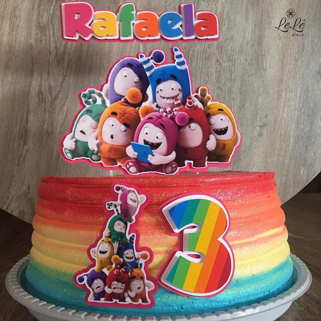 Oddbods rainbow cake in 2020 rainbow cake cake