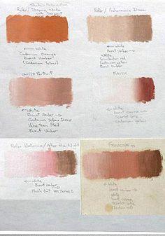 Oil Paint Skin Tones : paint, tones, Painting, Tips,, Color, Mixing,, Arttips,, Color,, Drawing,, Flesh, Tones…, Tutorial,, Chart,, Pencil