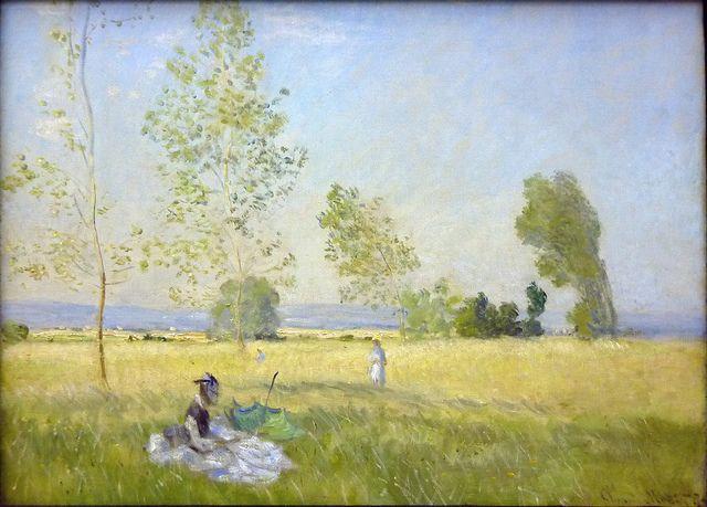 W 341 Claude Monet Prairie A Bezons 1874 Impressionismus Claude Monet Und Monet