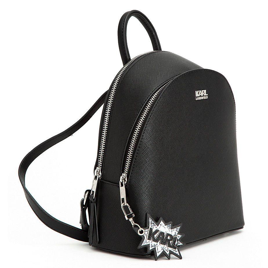 Exclusive Karl Lagerfeld x Falabella Backpack Karl Logo Black Handbag Limited