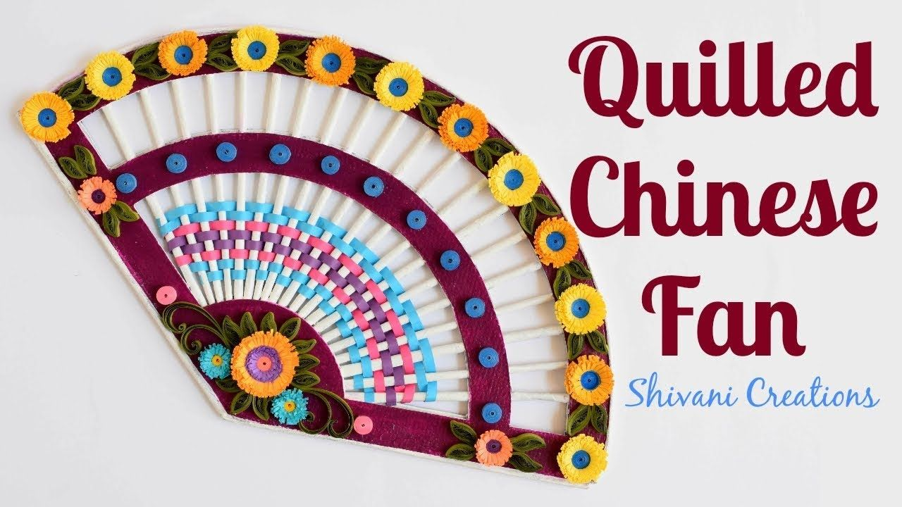 Quilled Paper Fan How To Make Chinese Fan Newspaper Fan For Wall Hanging