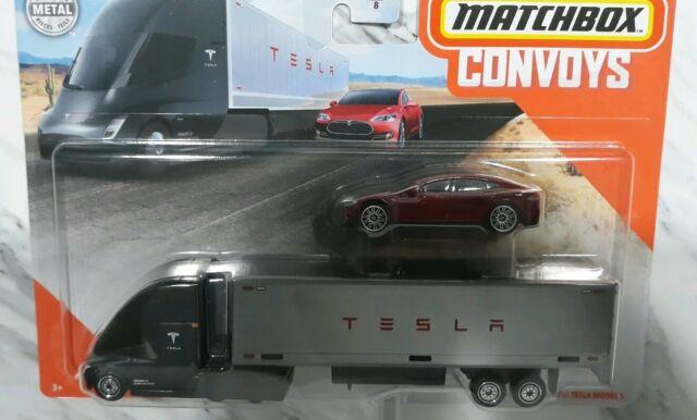 2020 Matchbox Convoys Tesla Semi Box Trailer Tesla Model S Ebay Tesla Model S Box Trailer Tesla Model