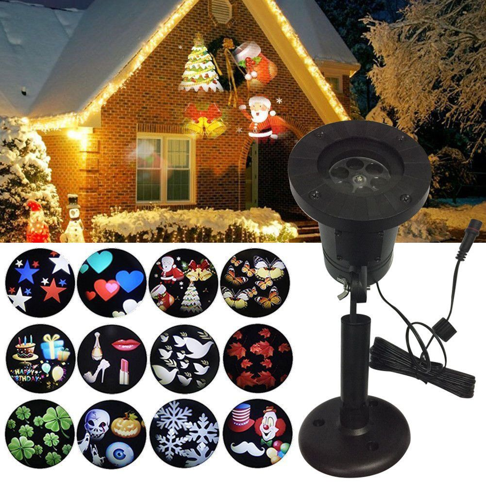 Outdoor Moving Snowflake Led Laser Light Projector Landscape Xmas Garden Lamp Holiday Lights Outdoor Laser Lights Projector Led Stage Lights