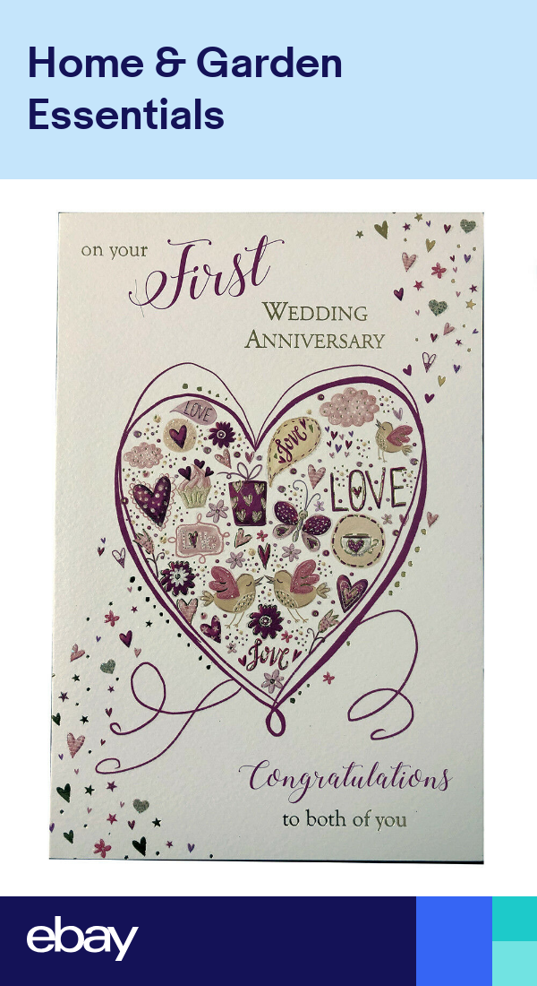 On Your First 1st Wedding Anniversary Card Good Quality