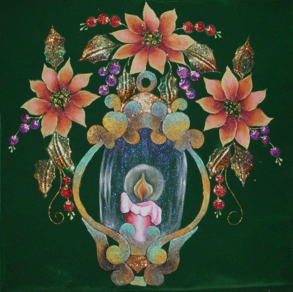 Esta es un dibujo pirograbado y pintado en pana puede ser - Motivos navidenos para pintar en tela ...