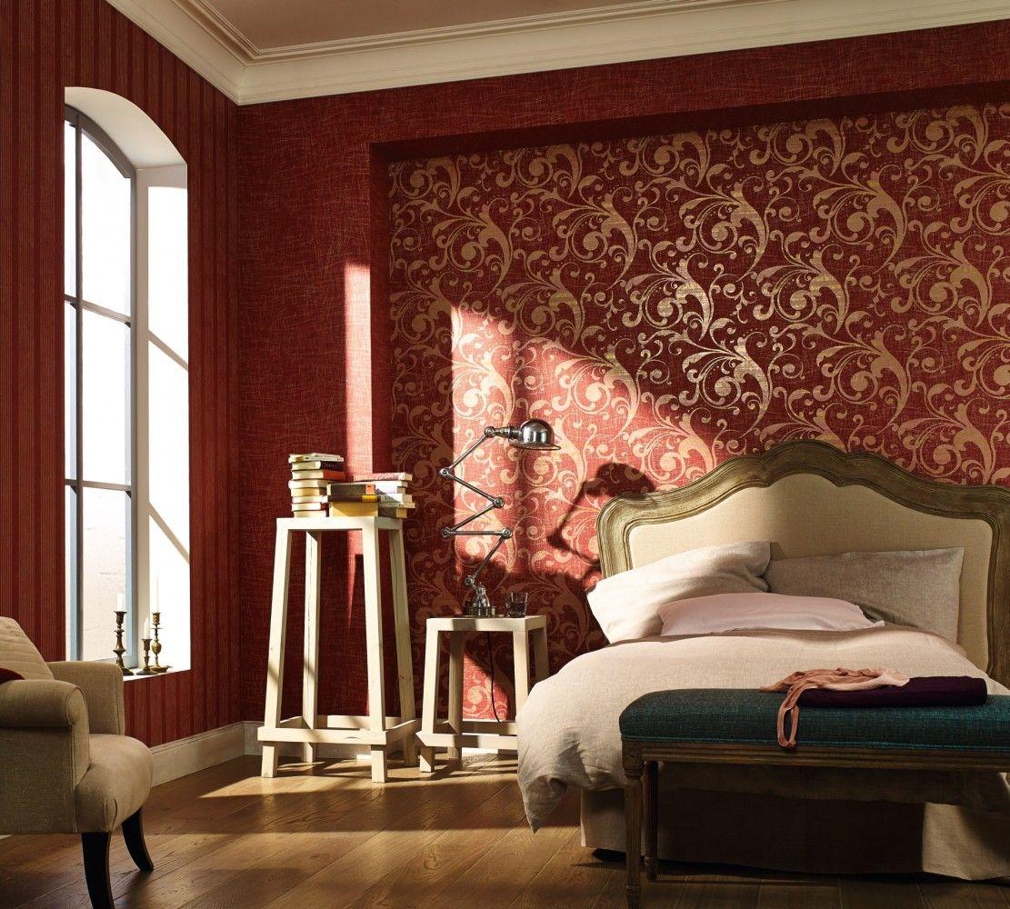 Schlafzimmer Tapete Rot