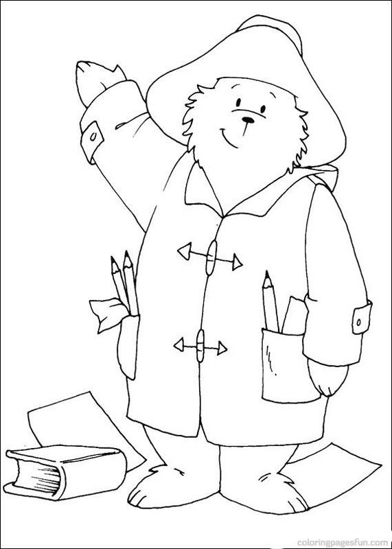 Paddington Bear Coloring Pages 5 With Images Bear Coloring Pages
