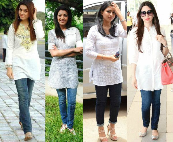 10 Ways In Which To Style Your Kurtis South India Fashion Kurti With Jeans Kurti Designs Latest Fashion