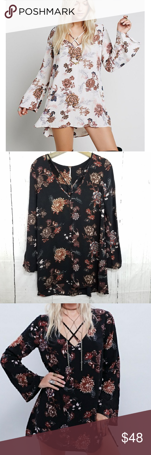 Nwot free people heart beat tunic dress my posh picks pinterest
