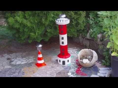 Wir zeigen euch hier, wie ihr euch aus selbstgemachten Formen aus Pappe einen Leuchtturm aus Beton gießen könnt.