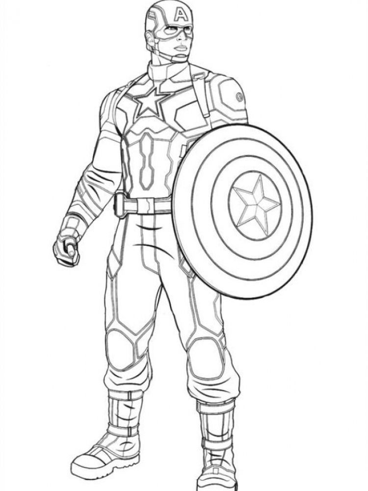Coloring Page Of Captain America Captain America Coloring Pages
