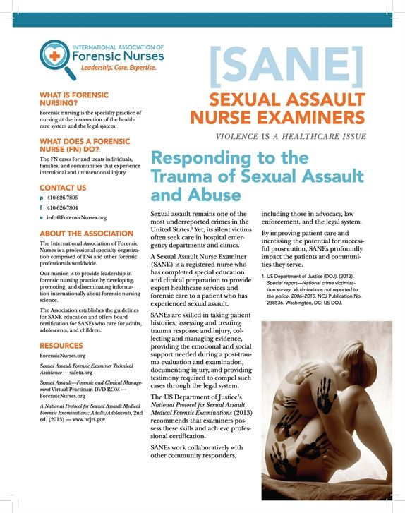 Sexual Assault Nurse Examiner - International Association of - Forensic Report