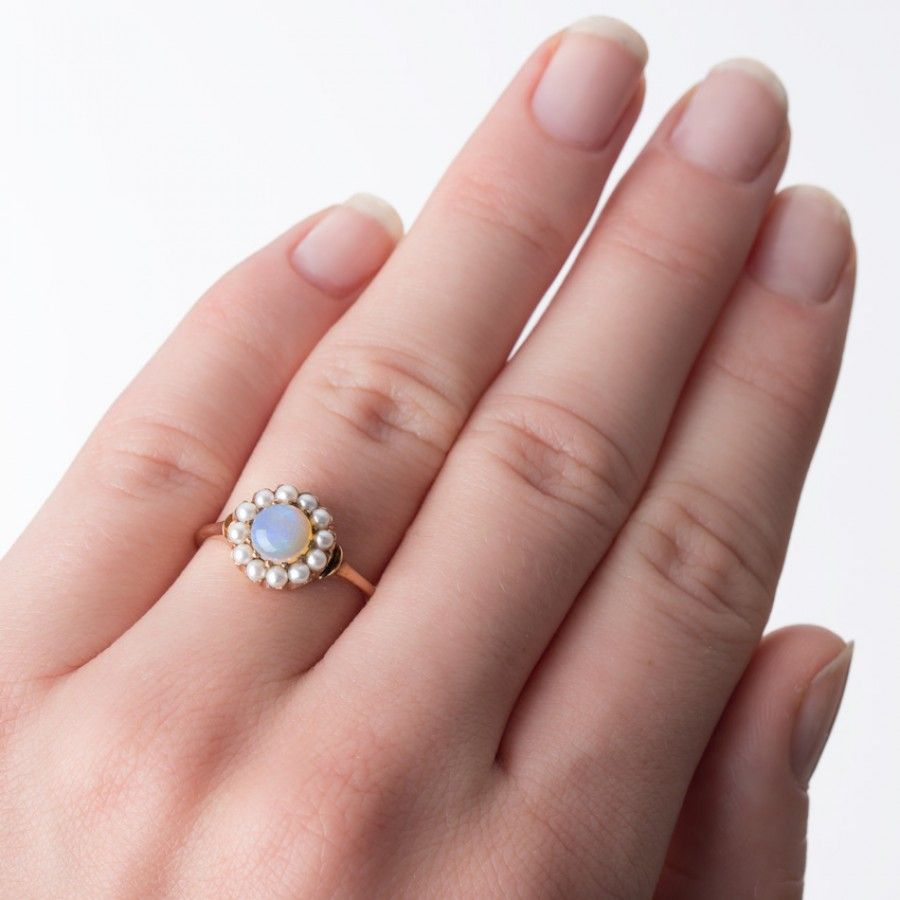 Opal and Pearl Engagement ring | Smokey Hill | Jewelry - Rings ...