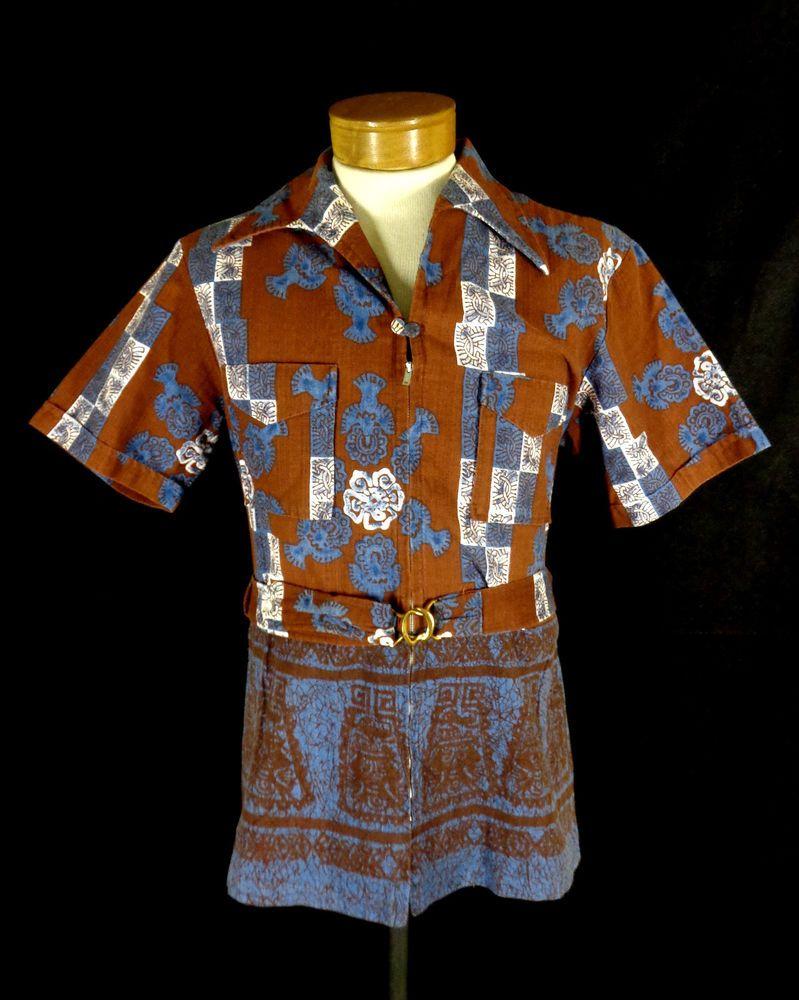 a5d63946 Rare Vintage Iolani Red Bark Cloth Zip Front Belted Hawaiian Shirt - Size  42 #Iolani #Hawaiian #Doyoureallyneedone