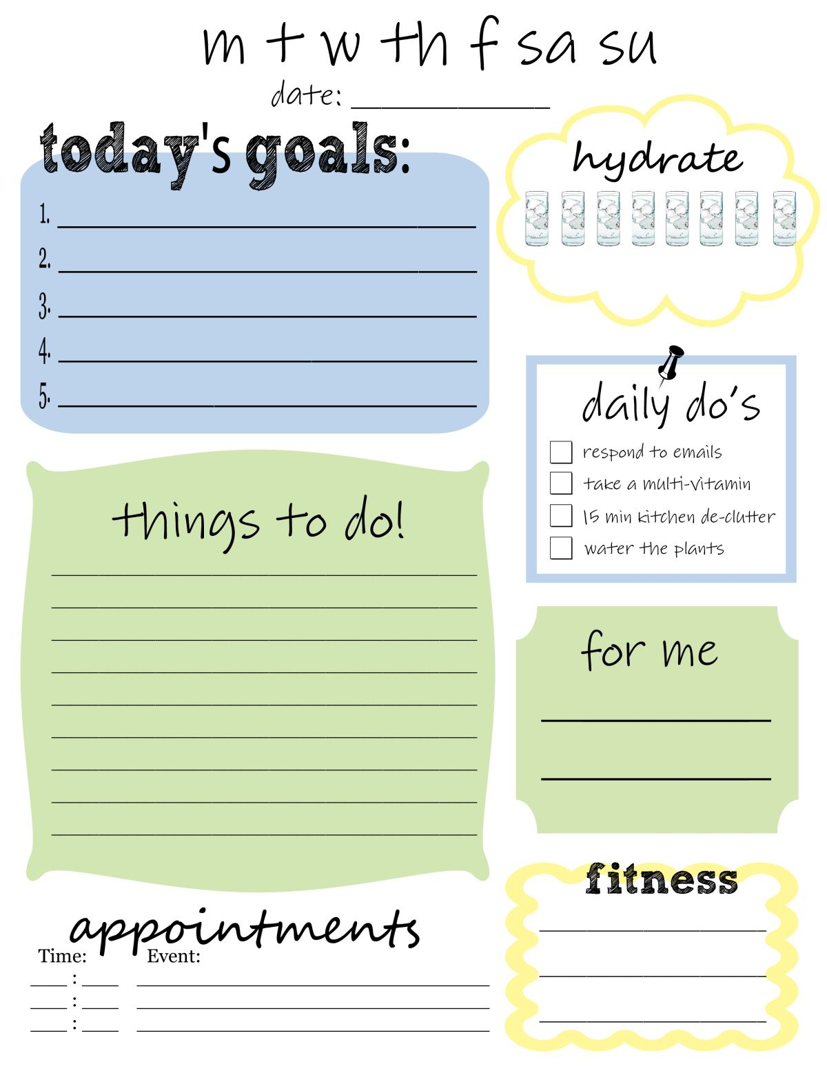 My Top  Free ToDo List Templates  Planners