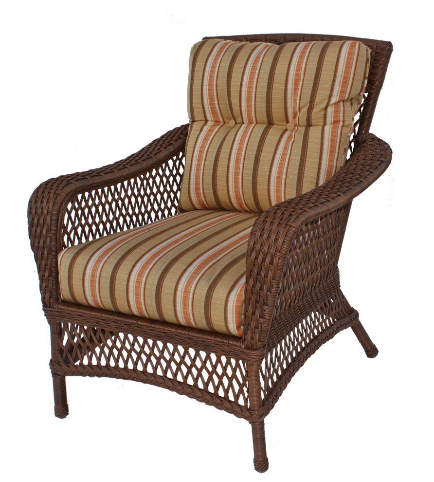 Superieur Vinyl Wicker Chair: Savannah Collection