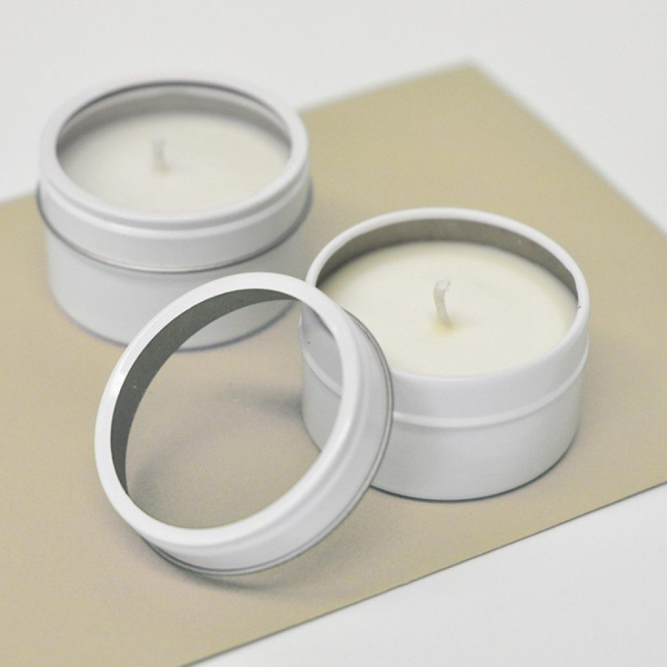 Round Candle Tin Favors - DIY Collection [EB2084NP Blank Plain ...