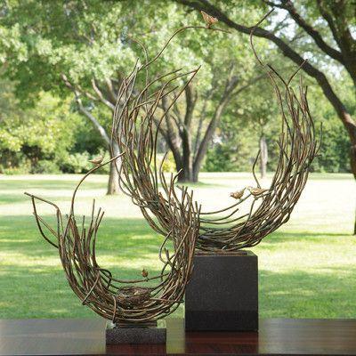 Global Views Bird's Nest-Verdi Figurine