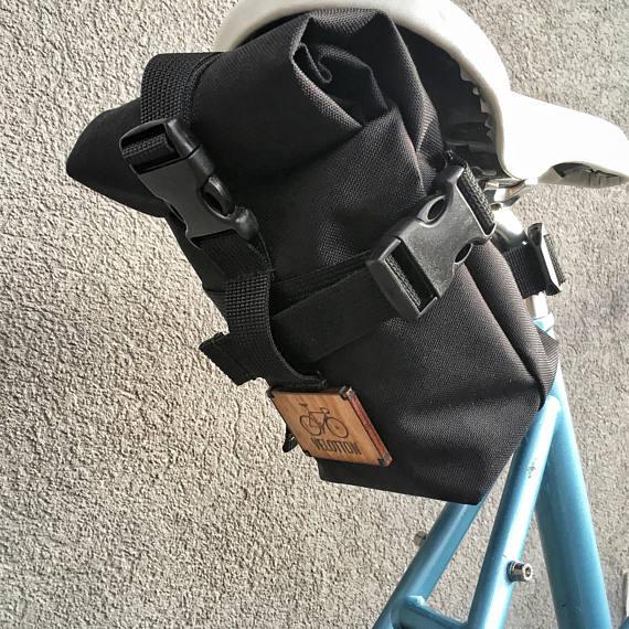 Rolltop Saddle Bag Turini By Velotton Bike Bicycle Bikebag