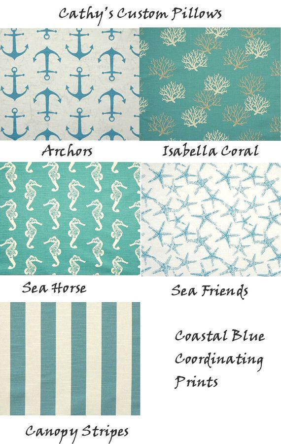 CUSTOM TABLE RUNNER Premier Fabric Coastal Blue Nautical Print