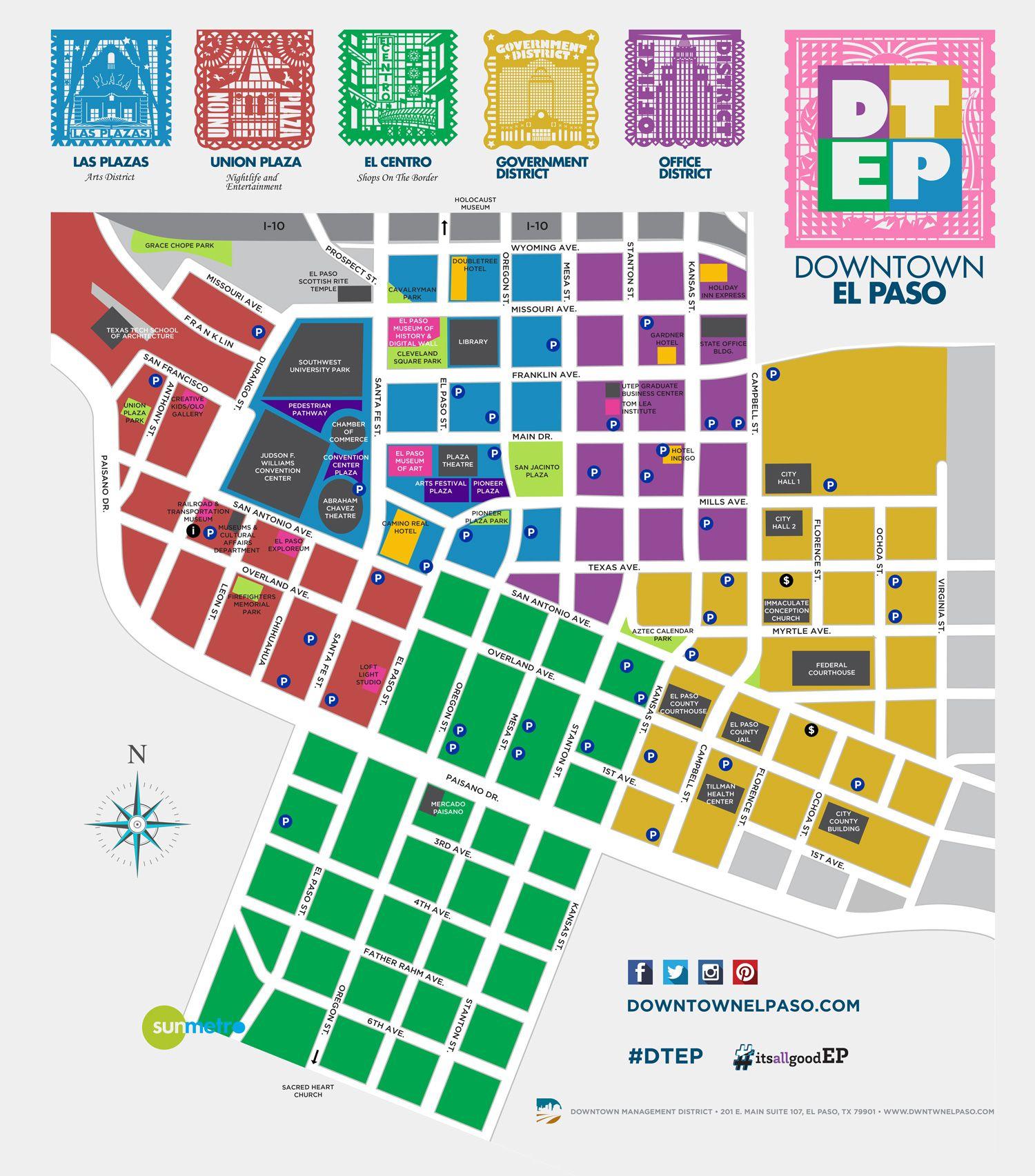 Downtown El Paso Map DTEP ItsAllGoodEP Discover El Paso