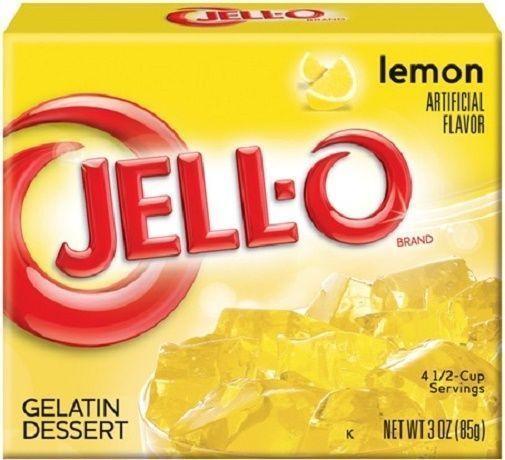 Jell-O Lemon Instant Jello Gelatin Mix 3 Oz Box