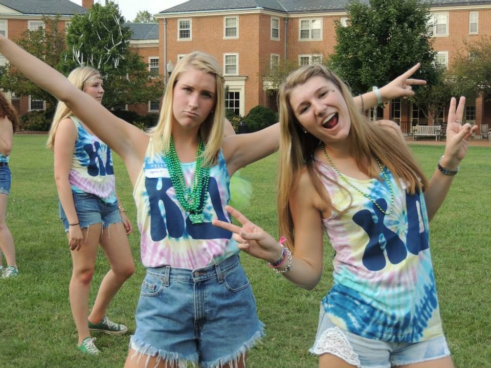 Kappa Delta at Wake Forest University #KappaDelta #KD #BidDay #TieDye #sorority #WakeForest