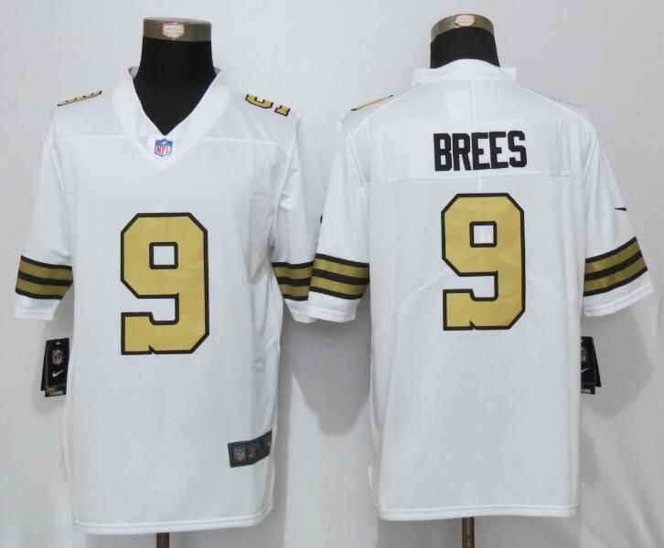 New Orleans Saints 9 Brees Navy White Color Rush Limited Jersey ... cd8ed05da