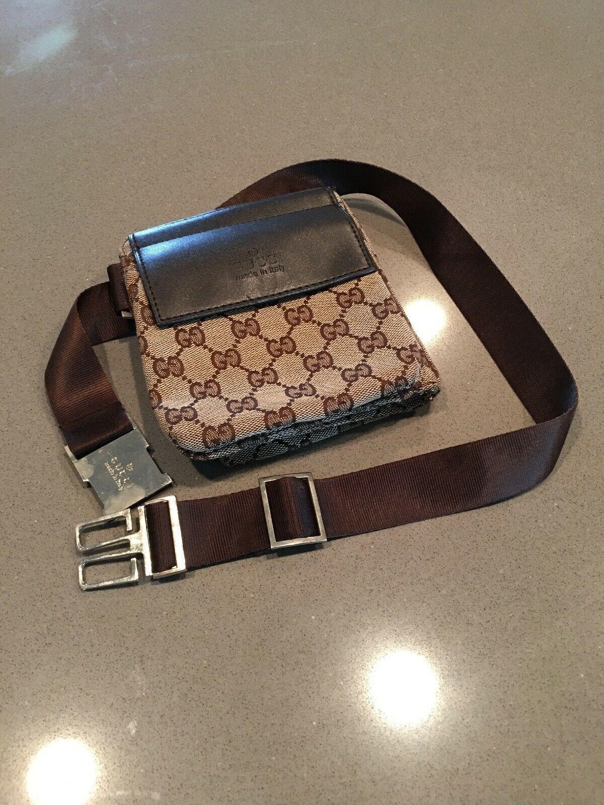 1a331fbf053d9 Gucci Waist Pouch Bumbag Belt Bag Fanny Pack Brown Monogram Canvas Gucci GG Canvas  Monogram Waist
