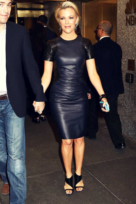 Megyn Kelly Leaving Nbc Studios Leatherdress Leather