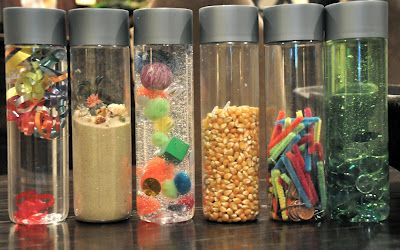 We love playing with Discovery Bottles! #sensorybottles