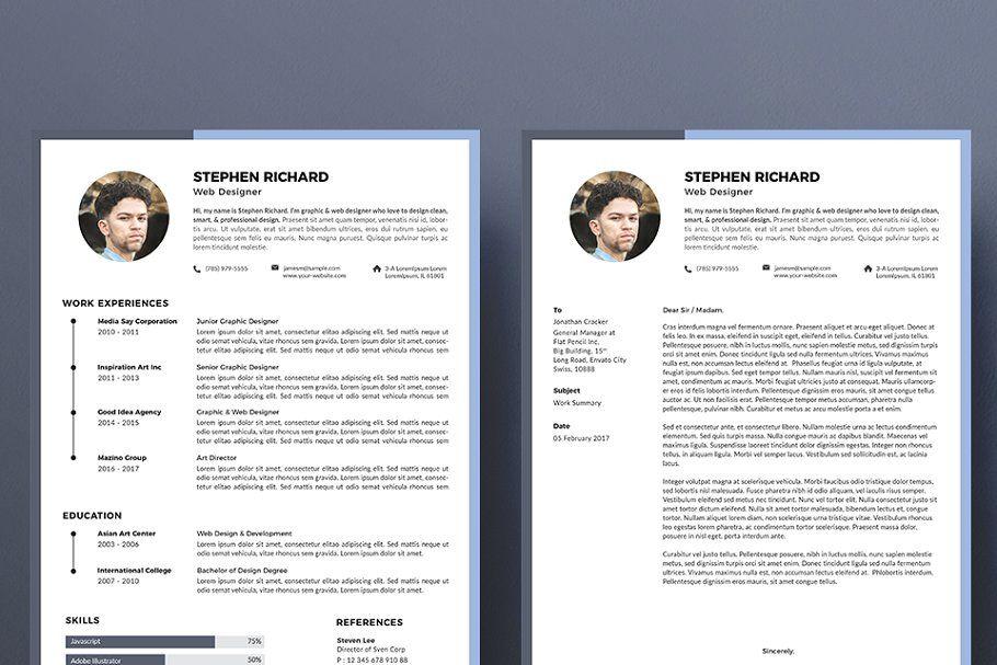 Creative Resume Cv Template Creative Resume Cv Template Clean Resume Template