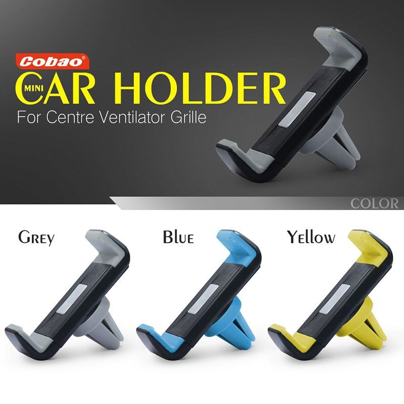 Univeral car air vent holder Cobao 360 degree rotation car cell phone holder for iPhone 5 6 6S Galaxy S4 S5 S6