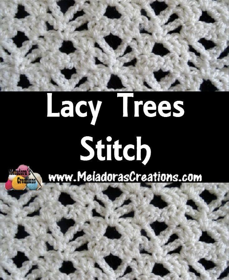 Lacy Trees Stitich #crochet #crocheting #Crochetstitch ...