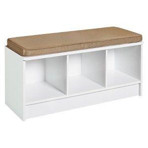 Closetmaid 3 Cube Bench White Storage Bench Seating White Storage Bench Cube Storage Bench