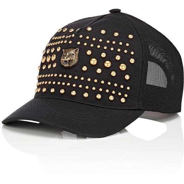2eb64ebefc2 Gucci Men s Studded Cotton Baseball Cap ( 650) ❤ liked on Polyvore  featuring men s fashion