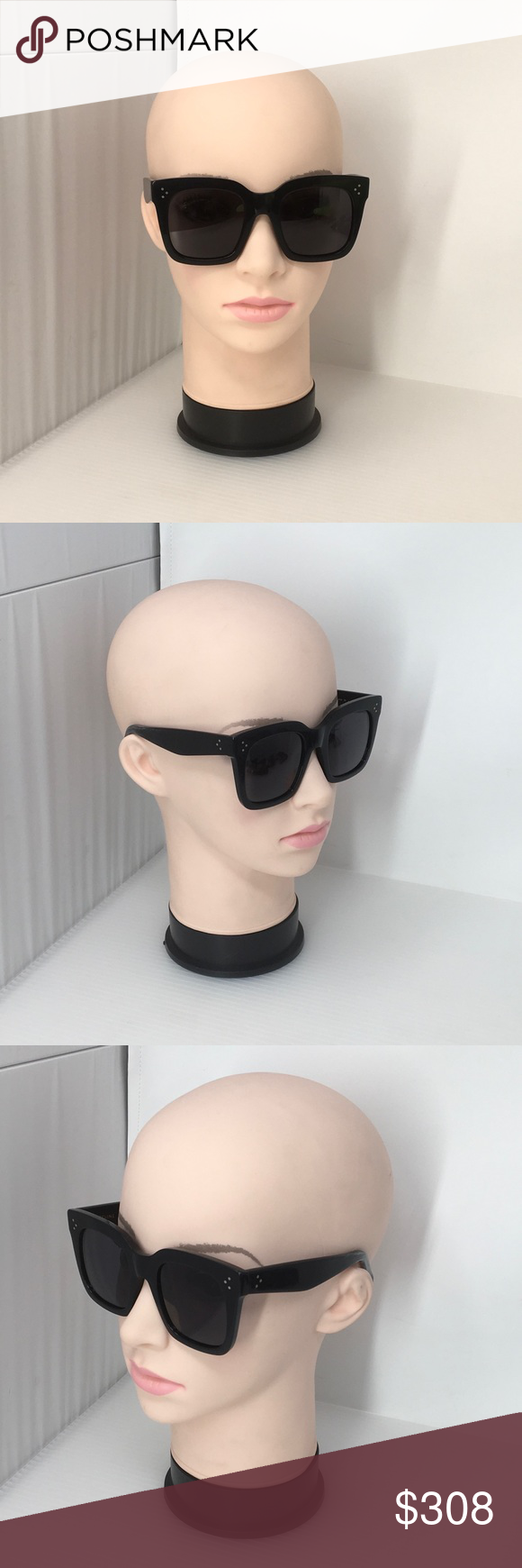4f2d6fd3210c Black Celine Tilda Sunglasses - Cl 41076 807 These Celine Sunglasses  Feature the Iconic Oversized Square