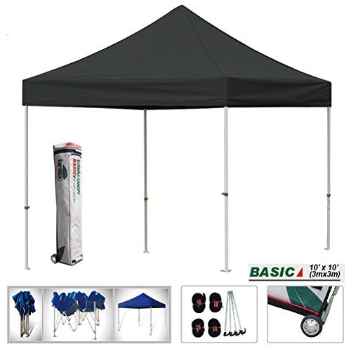 Eurmax Basic 10x10 Ez Pop Up Canopy Instant Party Tent Outdoor Portable Gazebo With Wheeled Storage Bag Bla Canopy Tent Outdoor Instant Tent Pop Up Canopy Tent