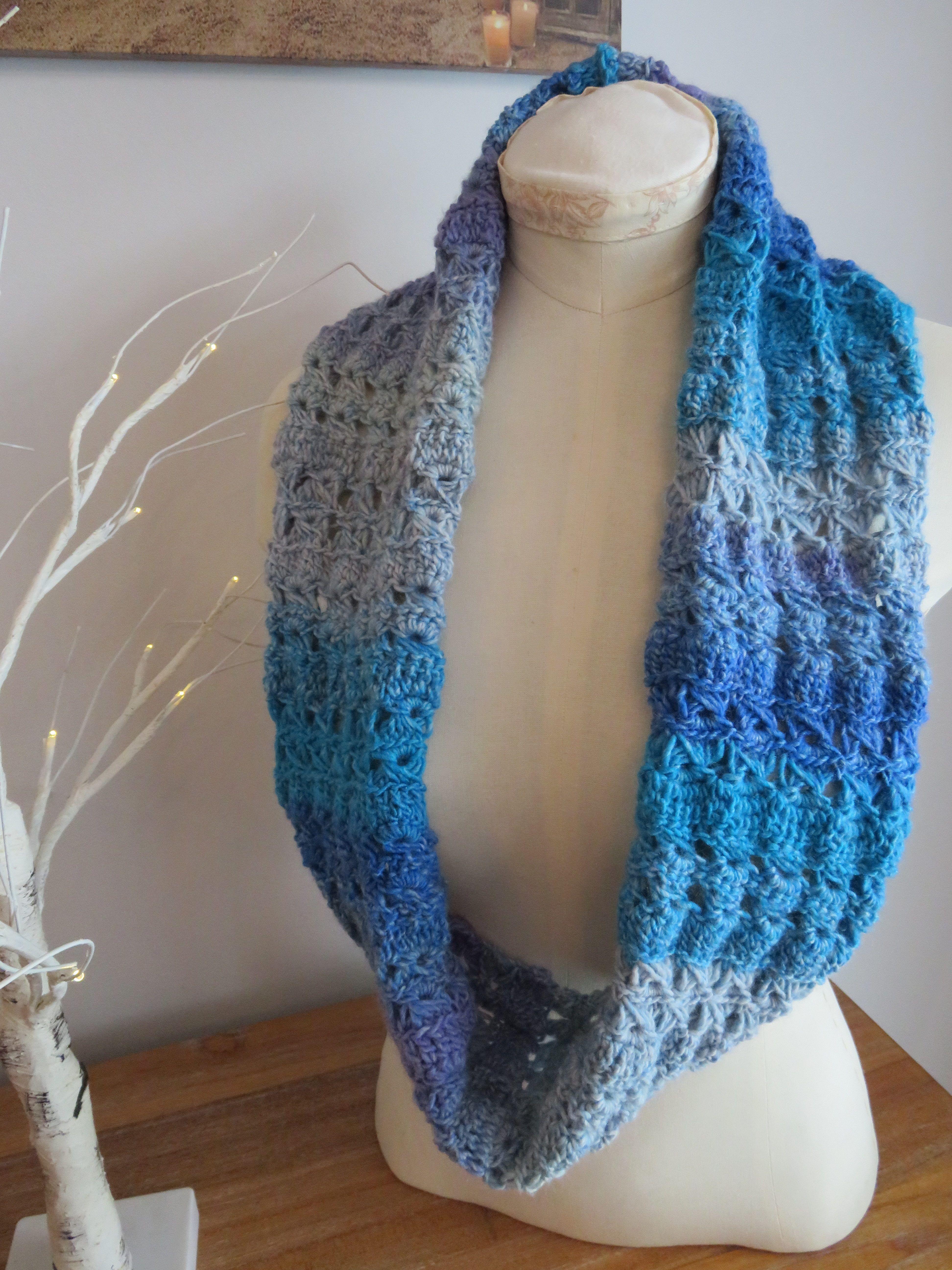 Azure Skies Crochet Cowl Pattern   Broomstick lace crochet ...