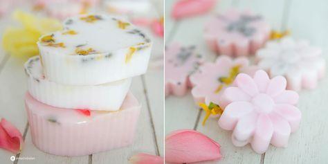 Seife mit Blüten