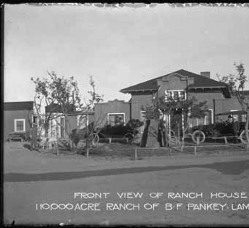 Front View Of Ranch House, B.F. Pankey Ranch, Lamy, New