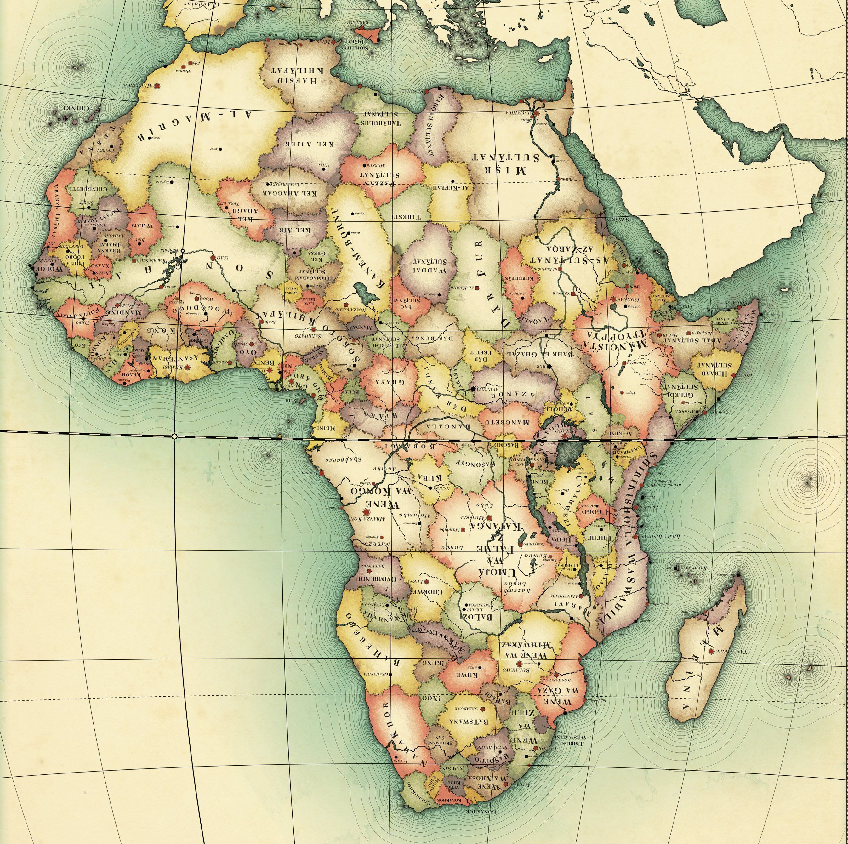uncolonised africa map