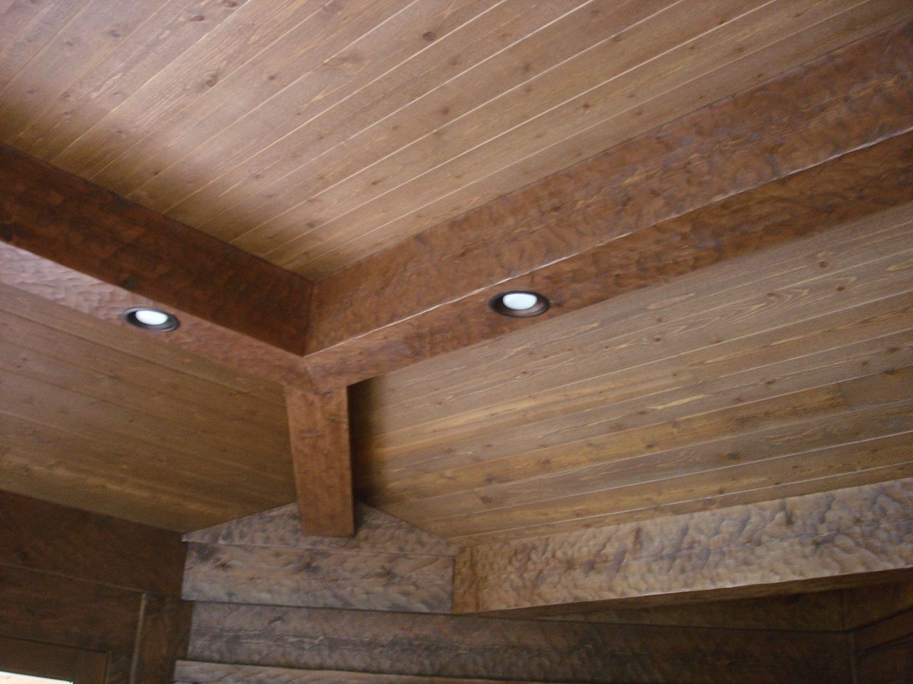 Tight Knot Cedar Standard V Joint Wirebrushed Face Weathered Endura Aqua Rustic Elegance Rustic Paneling