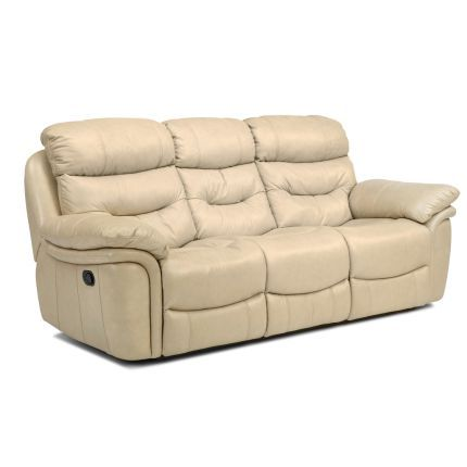 Taupe Leather Match Reclining Sofa Westport Collection