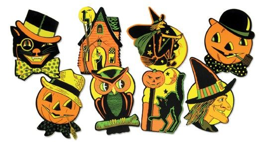 Vintage Design Beistle HE Luhrs Halloween Decorations Things I - halloween decorations vintage
