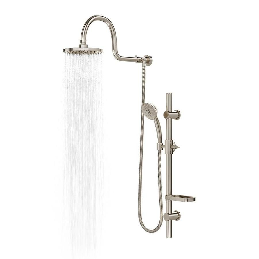 Pulse Retro Fit Brushed Nickel Shower Bar System At Lowes Com