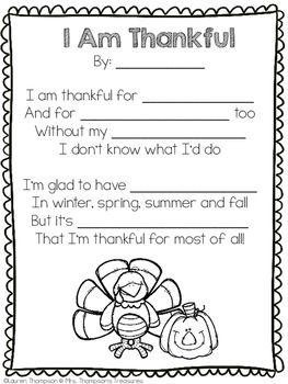 Free Thanksgiving Poem Template | Homeschool | Pinterest ...