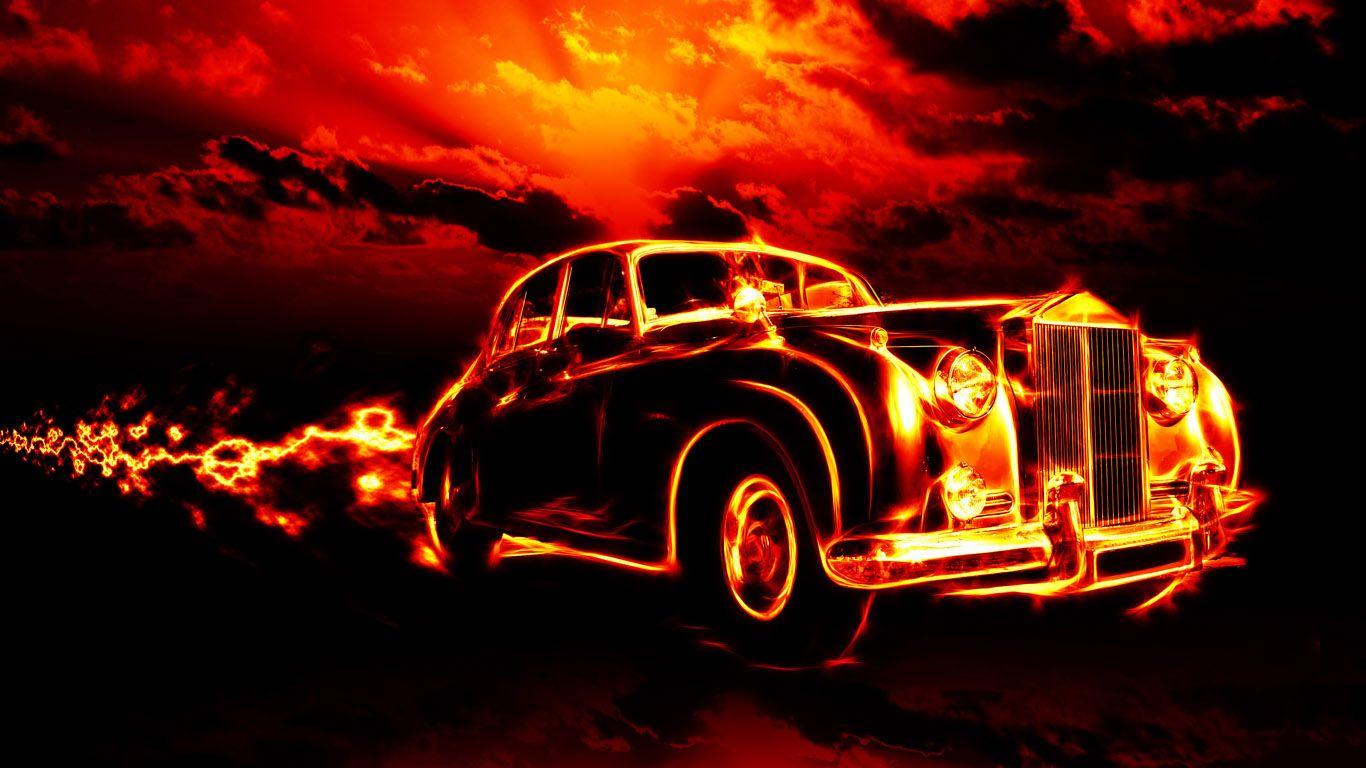 Avtomobil Fire Wallpaper 1366x768 Jpg 1366 768 New Car Wallpaper Desktop Wallpaper Rolls Royce