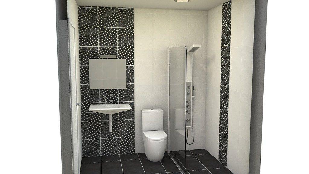 Refortma baño  de naranja a negro y blanco